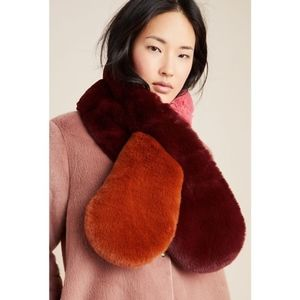 Dylan Colorblocked Faux Fur Scarf